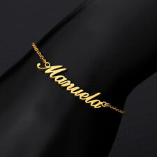Personalized Custom Name Anklet Women Gold Silver Leg Chain Ankle Foot Jewelry