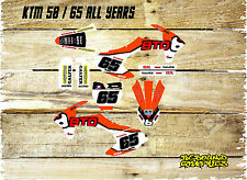 KTM SX 50 65 FULL GRAPHICS KIT-DECALS-FULL STICKER KIT-MX-BTO-ORANGE