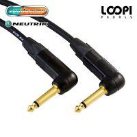 Guitar Instrument Lead 2m ~ 25m - Van Damme Cable w/ Neutrik Jacks (Right Angle)