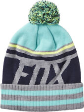 FOX RACING LADIES GIRLS BEANIE DISSIPATE BLACK AND AQUA MX MOTOCROSS SKATE