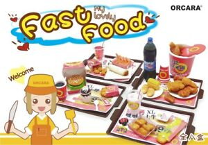 ORCARA Re-ment My Lovely Fast Food Rare Dollhouse Miniature rement size Full set