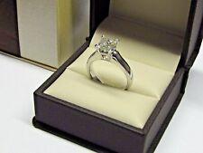 2.50Ct Princess-Cut VVS2 Diamond Solitaire Engagement Ring 14k White Gold Finish