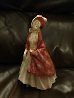 Vintage Royal Doulton Bone China Figurine HN1392 - Paisley Shawl - Damaged
