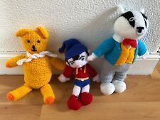 Rupert The Bear And Noddy Knitted Soft Toys