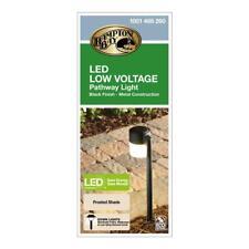 Hampton Bay Low-Voltage Black Outdoor Integrated LED Landscape Path Light
