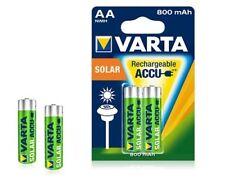 10x batería AA Mignon Varta solar 800 mah NiMH 56736 Longlife accu HR 6