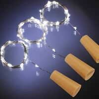 20er LEDs Lichterkette Draht Micro weiß, Batteriebetrieb,Weinflasche Licht
