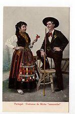 """PORTUGAL Costumes, coutumes Femme en costume Do Minho """" Namorados """""""