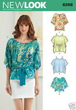 NL6268 Misses Tunics and Tops  Sizes XS-XL New Look Sewing Pattern