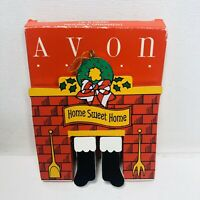 Avon Christmas He's Here! Movable Ornament in Box
