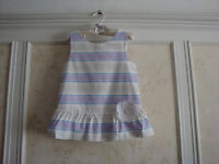 NWT JANIE AND JACK Santorini Suite Girls Striped Peplum Top 12  Lavender Stripe