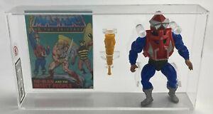 MOTU He-Man Vintage Loose Mekaneck w Comic Series 3 Malaysia 1984 AFA UKG 80%