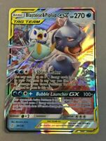 Pokemon Blastoise & Piplup GX Tag Team 38/236 Cosmic Eclipse Rare Holo Card NM
