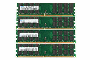 For Samsung 16GB 4X 4GB PC2-6400 DDR2-800MHZ 240pin AMD Desktop Memory Ram 16G