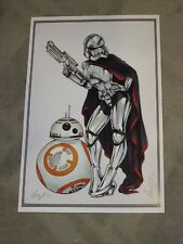 2017 ECCC STAR WARS STORM TROOPER ART PRINT BY ELIAS CHATZOUDIS SIGNED 11x17