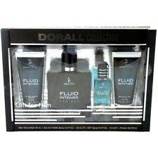 Fluid Intense Gift Set For Him Men's 4 Piece Fragrance Gift Set Dorall Collec...