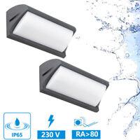 Applique Murale LED Spot Mural IP65 12W 230V Extérieur Bain Noir 2er Set