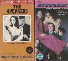 THE AVENGERS LOT OF 2 CLASSIC TV SERIES VHS TAPES RARE OOP