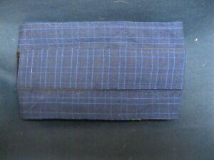 "1 ULTIMATE Dog Belly Band Diaper Wrap XS 11-15 x 4"" Dk Blu/Lt Blu DENIM Reusable"