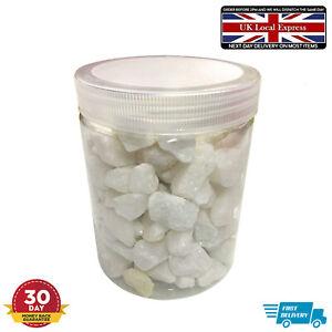 Decorative White Garden Pebbles Stone Aggregates Slate Rocks Wedding Home Vase