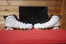 Nike Air Jordan 9 Retro BG Statue White Black Militia Green Size 6.5Y (2533)