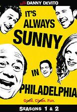 It's Always Sunny in Philadelphia  Complete Seasons 1 & 2 DVD 2009 NEW TV Comedy