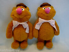 Large lot of 2 Used Muppet Show 1976 Fozzie Bear plush toys Fisher Price 851