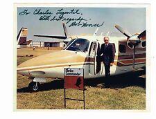 LE PILOTE AMERICAIN BOB HOOVER / PHOTO VINTAGE ANNEES 70