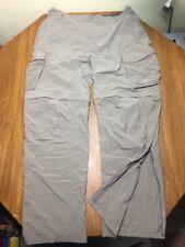 Men's REI Nylon Cargo Zip Off Legs Hiking Khaki Light  Green Pants Shorts SZ XL