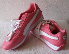 NEW Puma Street Cat Womens Nylon Running Shoes 11 Coral/White MSRP$75