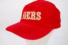 Vintage NFL San Francisco 49ers Corduroy Embroidered Logo Snapback Hat