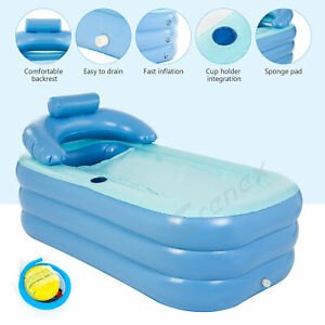 Inflatable Bath Tub Adult Portable Foldable Bathtub Blow Up travel bath pool