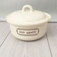 Hornsea Vintage Casserole Vegetable Dish Pot AND Lid Bon Appetit Ceramic England