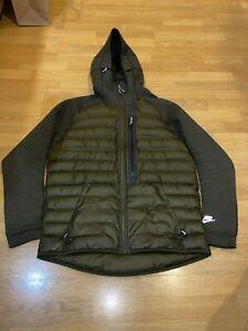 Nike Aeroloft Tech Fleece Mens Large Green Puffer Jacket