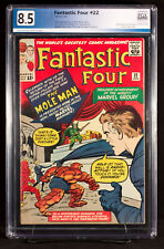 FANTASTIC FOUR #22 (Marvel) PGX 8.5 VF+ Very Fine+ MOLE MAN!!! +CGC!  UNPRESSED!