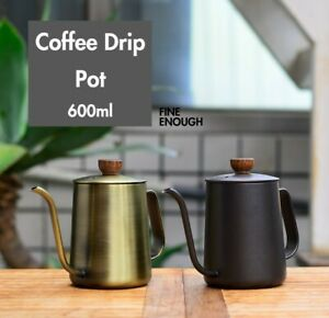 SUS304 Stainless Steel Coffee Drip Pot, Coffee Kettle for Pour Over Brew, 600ml