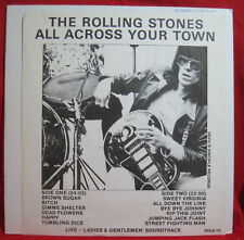 ROLLING STONES - ALL ACROSS YOUR TOWN - Rare Live Bootleg LP - TMQ LABEL