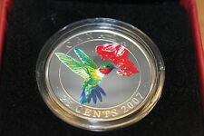 2007 25 CENT RUBY-THROATED HUMMINGBIRD PAINTED COIN
