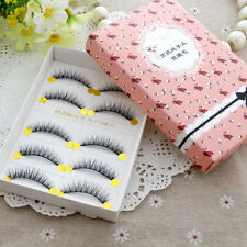 Natural Cross Short Soft Thick Fake False Eye Lashes Makeup Slender Eyelashes