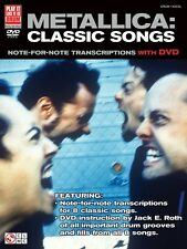 Metallica: Classic Songs for Drum Music Book with DVD