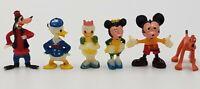 Vintage Disneykins Disney Mickey Minnie Donald Daisy Goofy Pluto Marx Toy Lot