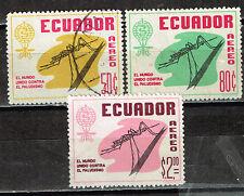 Ecuador Fauna Mosquito airmailstamps 1958