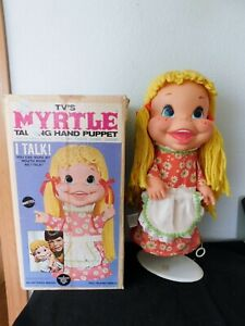 1969 TVs MYRTLE TALKING HAND PUPPET Dodies Dolll My 3 Sons Mattel A/O with BOX