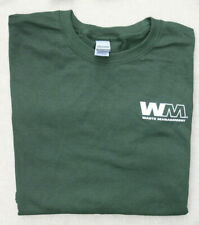~NWOT WASTE MANAGEMENT TSHIRT 2XL GREEN WM LOGO EMPLOYEE UNIFORM GRN TEE COTT