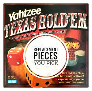 Yahtzee Texas Hold 'Em Replacement Pieces - Choose What You Need