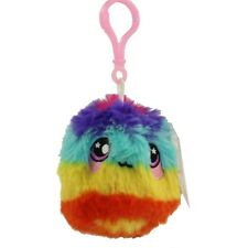 License 2 Play - Squeezamals Scented Plush - SHORT HAIR FUZZBALL (Rainbow)(Clip)