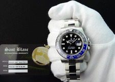 ROLEX - NEW 2016 SS GMT MasterII Black & Blue CERAMIC - 116710 BLNR - SANT BLANC