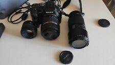 Sony DSLR-A700 digitale reflex con obiettivi, caricabatterie e borsa