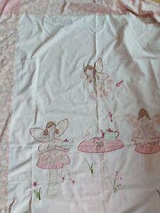Laura Ashley Fun Fairies fairy Single Duvet white Pink
