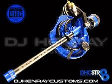DHC STR8 TONE ARM Assembly Technic 1200 black/blue 24kt gld rcas int ground